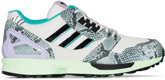 adidas ZX 8000 snake-effect sneakers
