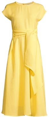 BOSS Dacari Wrap-Front Midi Dress