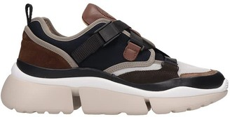 Chloé Sonnie Sneakers In Blue Tech/synthetic