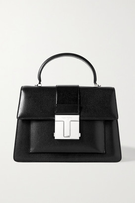 Tom Ford 001 Medium Leather Tote - Black