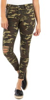 KUT from the Kloth Connie High Waist Ripped Ankle Skinny Camo Pants