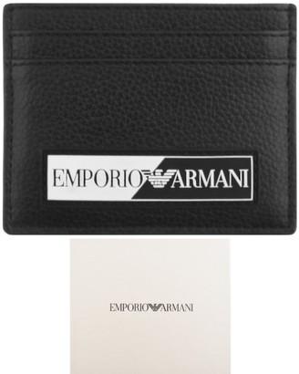 Giorgio Armani Emporio Logo Card Holder Black