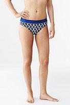 Lands' End Women's Beach Living MidWaist Bikini Bottoms-Deep Sapphire Geo