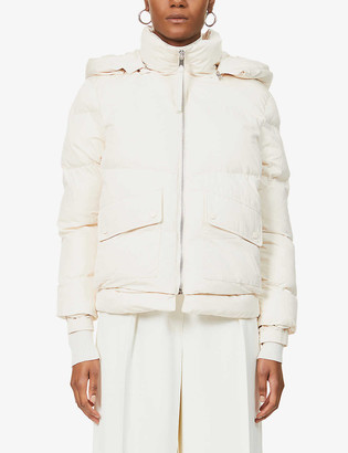 Reiss Paige quilted-down shell puffer jacket