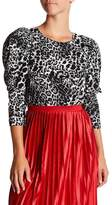 Gracia Cheetah Print Bishop Sleeve Blouse