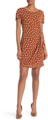Robbie Bee Polka Dot Wrap Sarong Dress