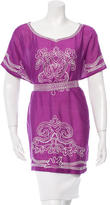 Oscar de la Renta Embroidered Silk Tunic