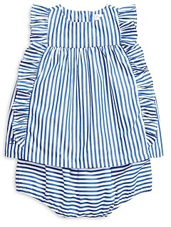 Ralph Lauren Polo Girls' Ruffled Top & Bloomers Set - Baby