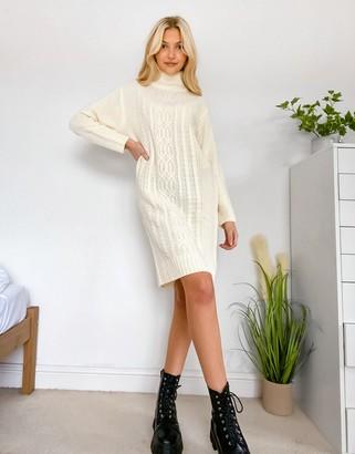 Wednesday's Girl jumper dress in chunky knit