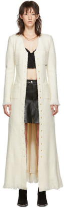 Alexander Wang White Tweed Coat