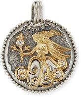 Konstantino Virgo Carved Zodiac Pendant with Diamond
