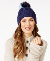 BCBGeneration Two-Tone Pom Pom Beanie