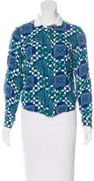 Sea Printed Button-Up Top