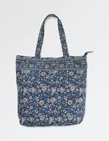 Fat Face Floral Cotton Shopper Bag