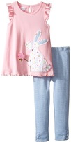 Mud Pie Bunny Tunic and Leggings Set (Infant/Toddler)