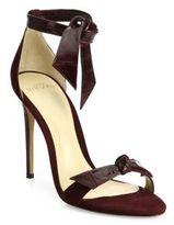 Alexandre Birman Clarita Suede & Eel Ankle-Tie Sandals