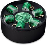 L'OBJET Malachite Set Of 6 Espresso Cups
