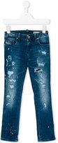 Diesel distressed slim jeans - kids - Cotton/Polyester/Spandex/Elastane - 6 yrs