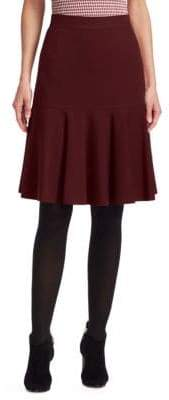 Akris Punto Ruffle Hem Jersey A-line Skirt