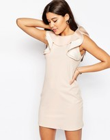 Asos Shift Dress with Ruffle Neckline