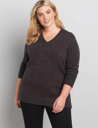 Lane Bryant Lane Essentials V-Neck Split-Side Sweater
