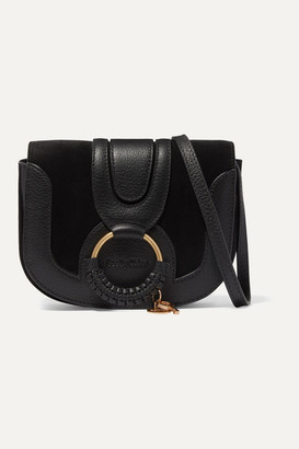 See by Chloe Hana Mini Textured-leather And Suede Shoulder Bag - Black