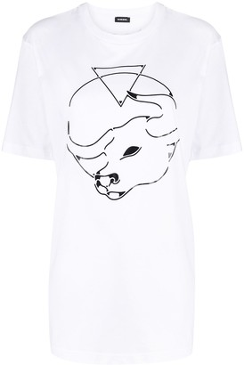 Diesel graphic print short-sleeved T-shirt