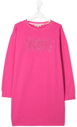 Emilio Pucci Junior Long Sleeved Logo Dress
