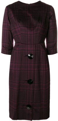 A.N.G.E.L.O. Vintage Cult 1960's Checked Buttoned Dress