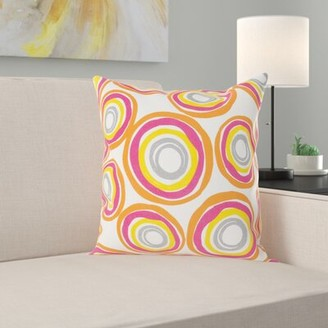 "Grove Lane Ballina Cotton Throw Pillow Cover Grovelane Teen Size: 18"" H x 18"" W x 1"" D, Color: Yellow/Orange"