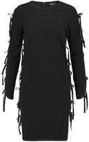 DKNY Bow-Embellished Crepe Mini Dress