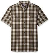 Carhartt Men's Big and Tall Fort Plaid Short Sleeve Shirt