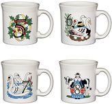 Fiesta Twelve Days of Christmas Series: Day 5-8 4-pc. Coffee Mug Set