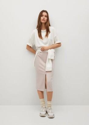 MANGO Elastic waist skirt