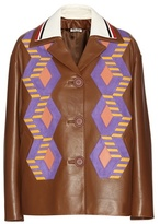 Miu Miu Leather And Suede Jacket