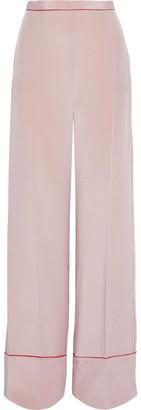 Stella McCartney Arielle Silk Crepe De Chine Wide-leg Pants