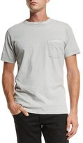 Rag & Bone Garment-Print Short-Sleeve T-Shirt, Gray