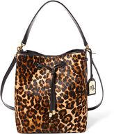 Ralph Lauren Dryden Haircalf Drawstring Bag