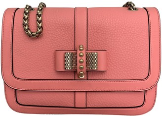 Christian Louboutin Sweet Charity Pink Leather Handbags
