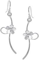 Journee Collection Sterling Silver Handmade Flower Drop Earrings