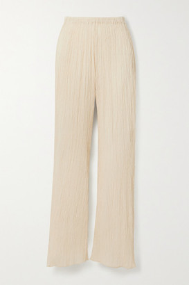 Savannah Morrow The Label - The Vidya Crinkled Organic Cotton-gauze Pants - Cream