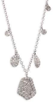 Meira T Paved Diamond& 14K White Gold Necklace