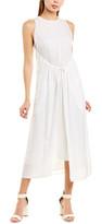 Vince Shirred Drawstring Maxi Dress