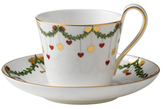 Royal Copenhagen Star Fluted Christmas High Handle Cup & Saucer
