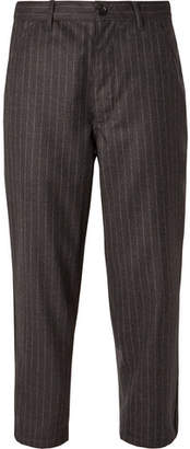 Comme des Garcons Cropped Pinstriped Wool Trousers