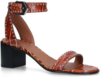 Givenchy Croc-Embossed Leather Sandals 60
