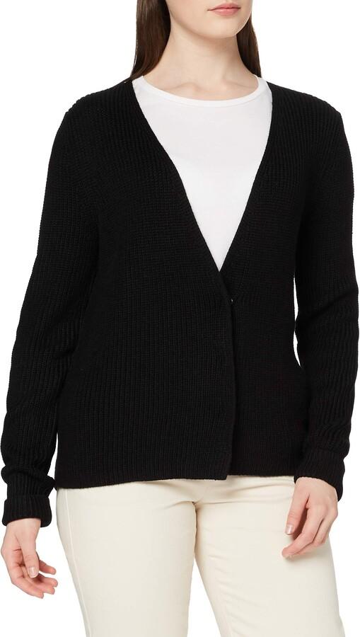 Meraki Women's Chunky Wool-Blend Ribbed Cardigan Sweater