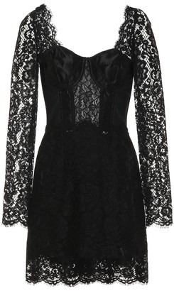 Dolce & Gabbana Cotton-blend lace minidress