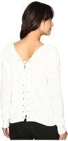 Brigitte Bailey Francesca Lace-Up Long Sleeve Sweater