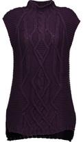 Autumn Cashmere Cable-Knit Cotton Turtleneck Sweater